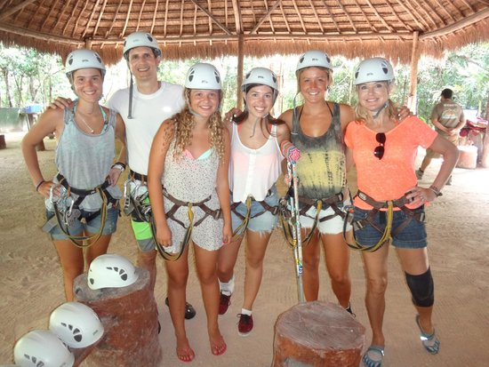 Edventure Tours : Gearing up for the zip lines.