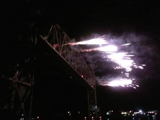 Cape Cod Central Railroad: Cape Cod Canal Fireworks on the Train Bridge
