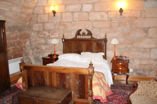 Dalhousie Castle: our bedroom