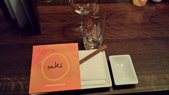 Sake Restaurant & Bar: Place setting at Sake