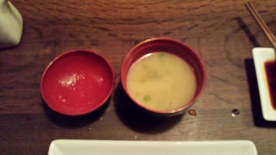 Sake Restaurant & Bar: Miso soup,  Japanese restaurant must have a good Miso, and this was very good