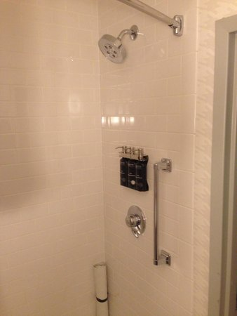 Kimpton Onyx Hotel: Shower with full sized body wash, shampoo and conditioner