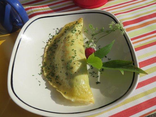 Bieri's Paradise Guest Farm: Homemade omlette!