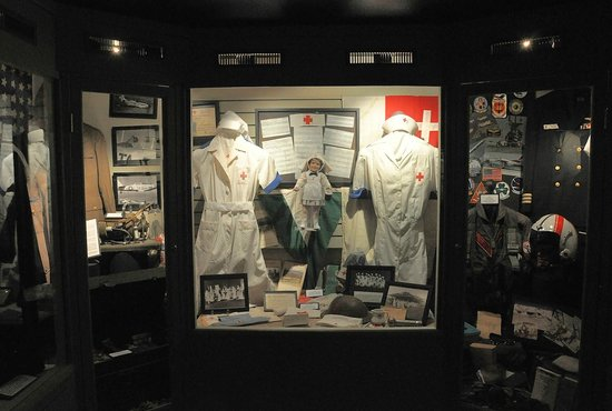 Old Town Museum : Hospital apparel are among the collection of military uniforms in the main exhibit hall.