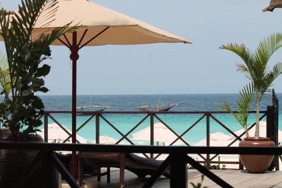 The Z Hotel Zanzibar : Vista desde el balcón de la habitación