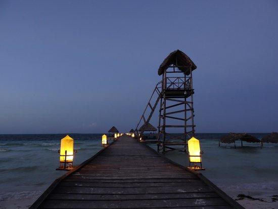 Melia Cayo Guillermo: Pier at Night