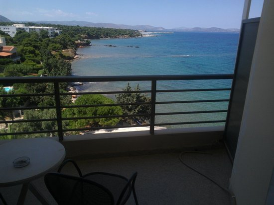 Hotel Mati: balcony & view with small table & 2 chairs