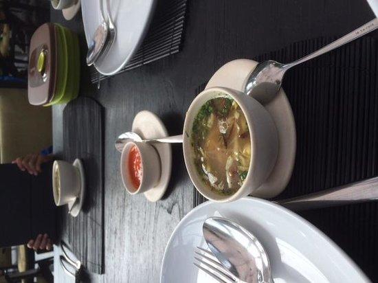 Merah Putih Restaurant: Soto ayam in a small cup