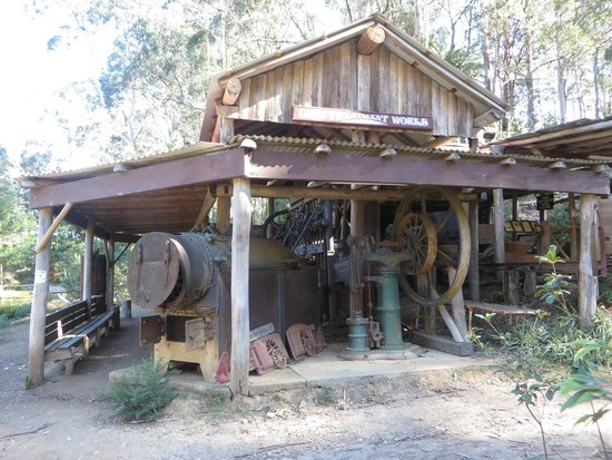 The Original Gold Rush Colony Mogo Machinery shed & Typical miners tent - Picture of The Original Gold Rush Colony ...