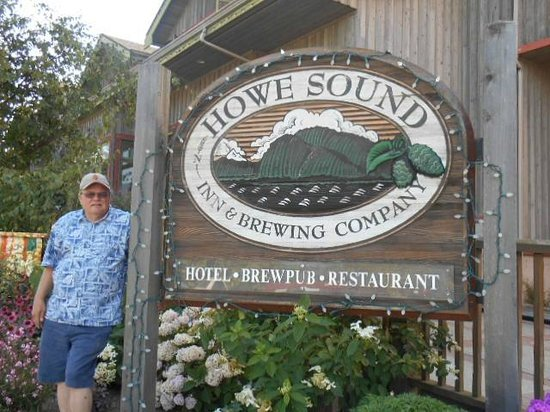 Howe Sound Brew Pub: John R in front of pub Summer, 2014