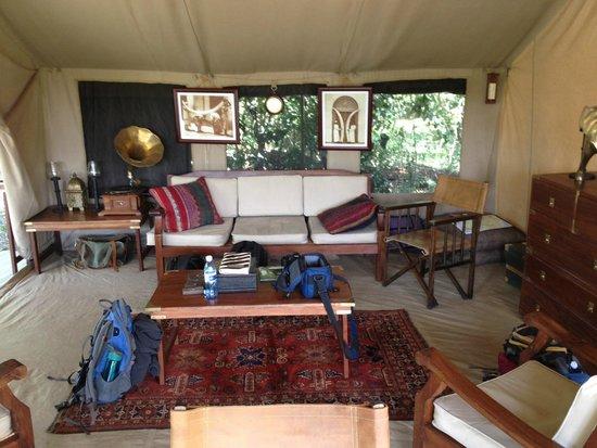 Sentinel Mara Camp: Lounge area