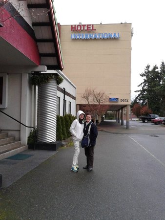 Hotel International: My wife and daughter