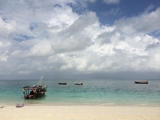Zanzibar Watersports: View from ZanZibar water sports in Kendwa Rocks. Best spot to plan a dive trip from on the islan