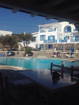 Argo Hotel Mykonos : Breakfast with a view