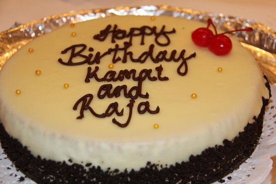 Raja's Indian Restaurant & Bar: Two birthday celebrations together