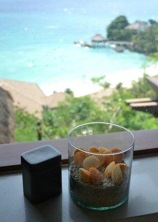 Shangri-La's Boracay Resort & Spa: View from the Tanawin villa bathroom