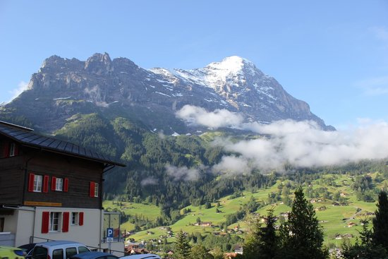 Jungfrau Lodge Swiss Mountain Hotel: View of Eiger from Deck