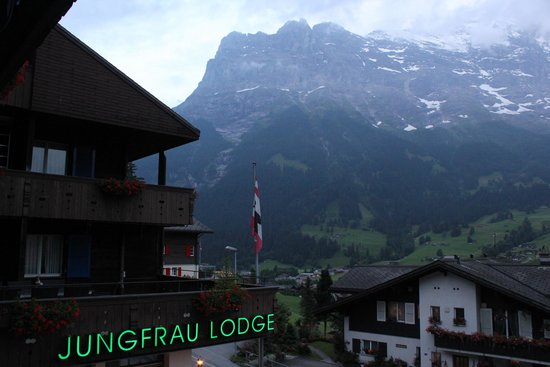 Jungfrau Lodge Swiss Mountain Hotel: View from Deck