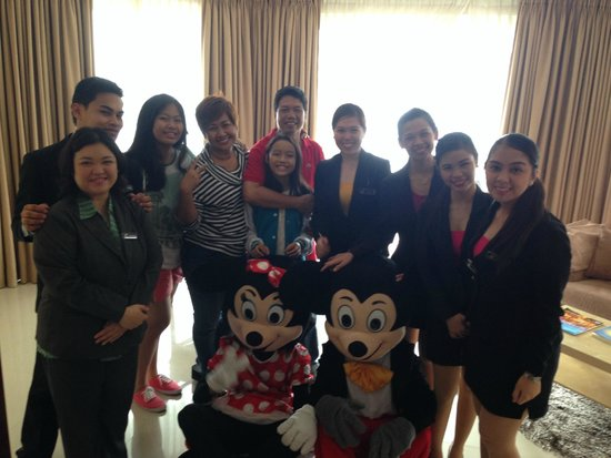 The Lake Hotel Tagaytay : with the Lake hotel staff