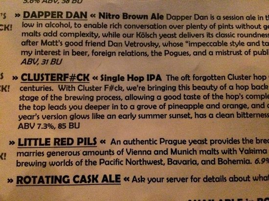 Double Mountain Brewery: beer descriptions