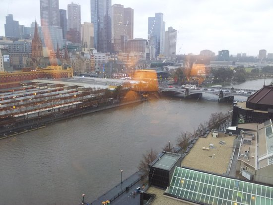 The Langham, Melbourne: day time view from river view king room