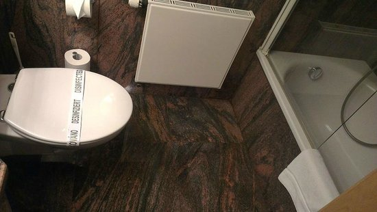 Hotel Heidehof: Clean modern toilet