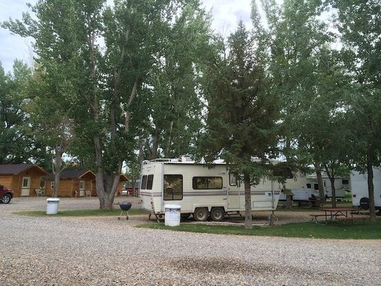 Ten Broek Rv Park Cabins Horse Hotel Rvs Parked Hilly Under Shady Trees