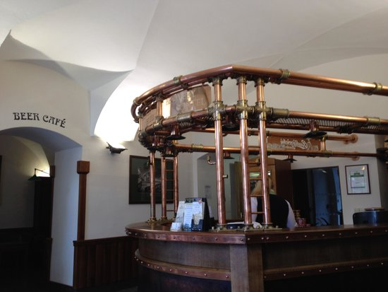 Brewery Hotel U Medvidku: reception area