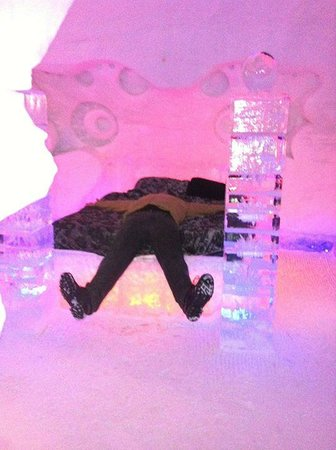 Hotel de Glace: oh , I must try the frozen bed