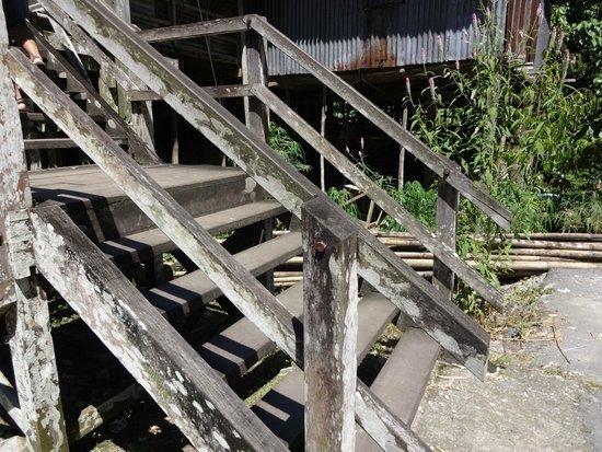 Annah Rais Longhouse Adventure: Stairs to the LongHouse