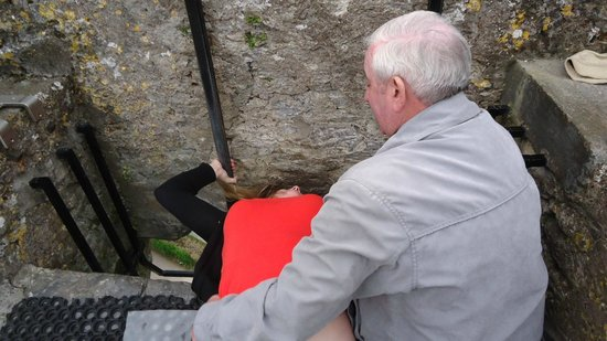 Blarney Stone: Kissing the stone