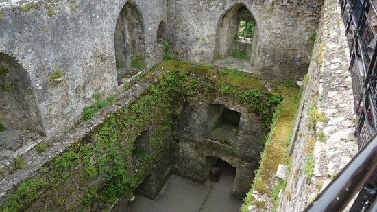 Blarney Stone: Looking down into the castle from the top
