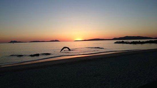 Playa Samil: Dayly summer sunset, Samil Beach in Vigo