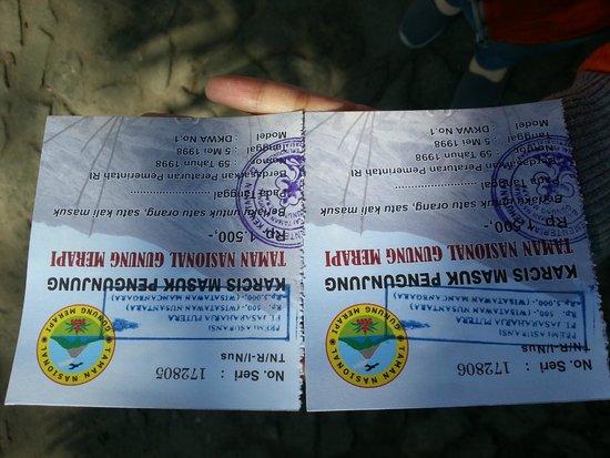 Merapi Volcano: Tiket Masuk