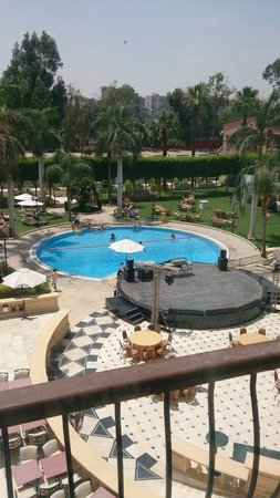 Concorde El Salam Hotel: pool side view from room balcony
