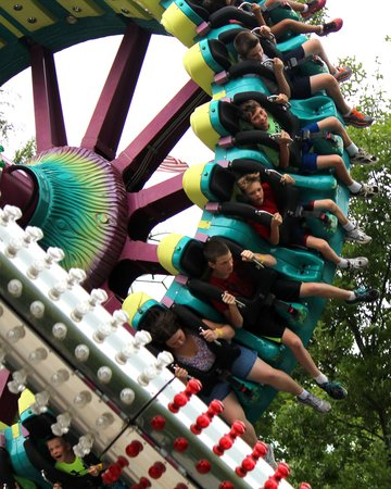 Knoebel's Amusement Resort : One of the rides at Knoebel's