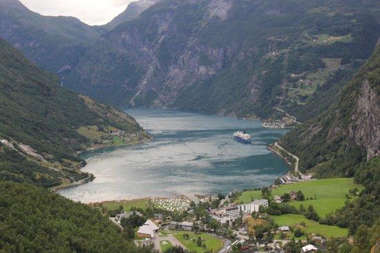 Geiranger Fjord : Vue du fjord de Geiranger