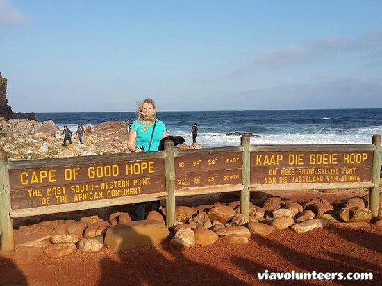 Baz Bus - Day Tours: Heather at the Cape of Good Hope.