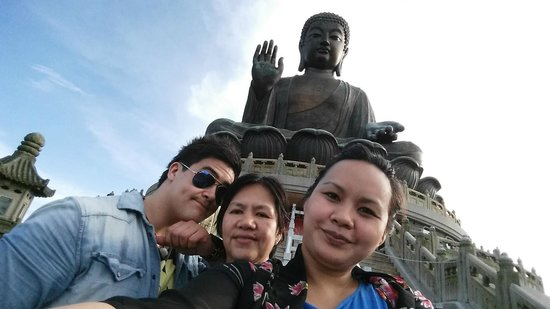 Grand Bouddha : up there