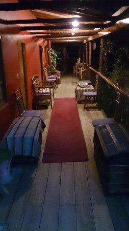 Casa Panqarani: The verandah at night