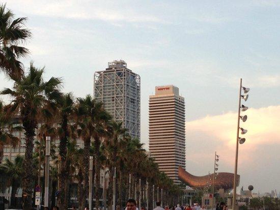 Hotel Arts Barcelona: Walking around before dinner