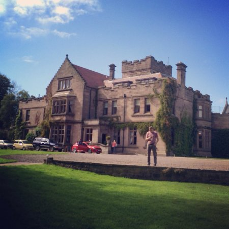 Ellingham Hall: The hall in the sunshine