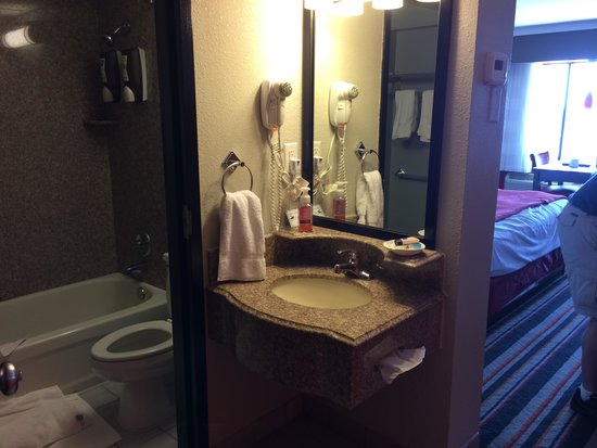 BEST WESTERN PLUS Sandcastle Beachfront Hotel : When you walk in the sink area that leads to the bathroom