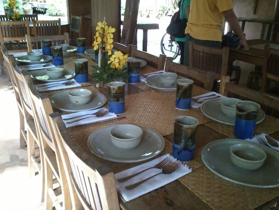 Ugu Bigyan: table setting
