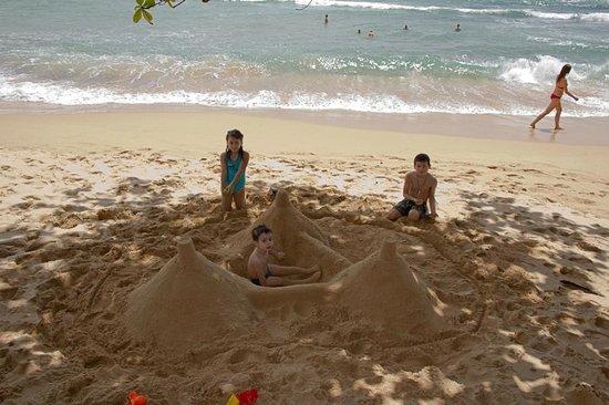 Sri Gemunu Beach Resort : Plage