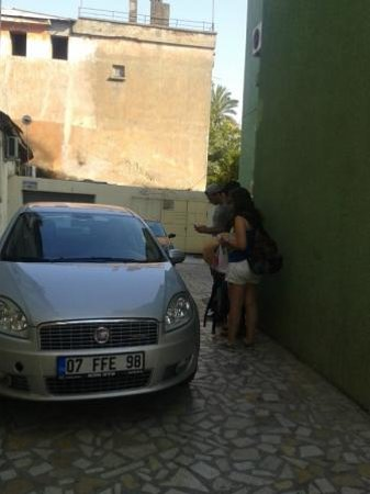 Kaleici: Our rented car