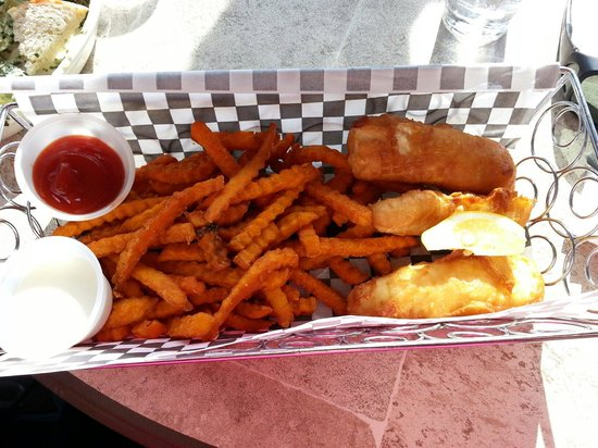 Dock Shack: Fish and Chips. Fried Halibut.