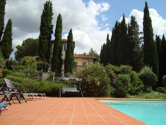 Villa del Pino: Pool Blick richtung Villa