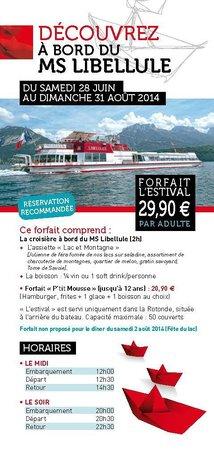 Bateau-Restaurant MS Libellule: La publicité