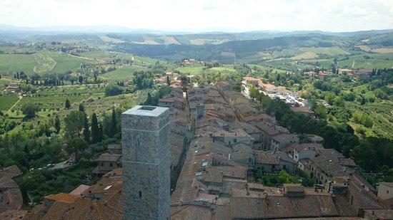San Gimignano Bell Tower: Vue du haut de la tour